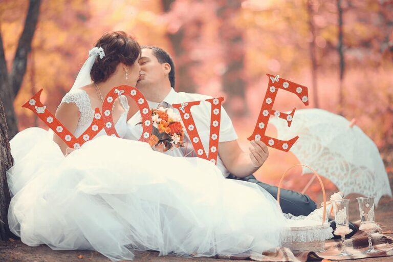 Romatyczne wesele jesienią