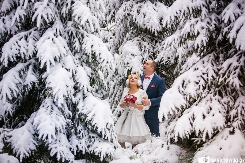sala weselna w zimie