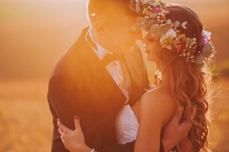 wesele wianek z kwiatów